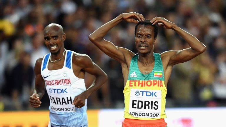 Sir Mo Farah and Muktar Edris