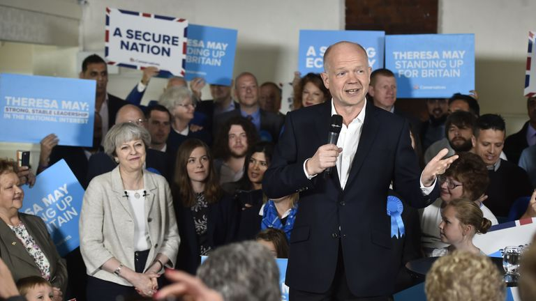Theresa May and William Hague
