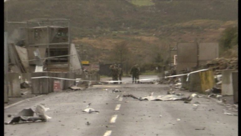The border between Northern Ireland and the Republic was once one of the most heavily fortified in western Europe
