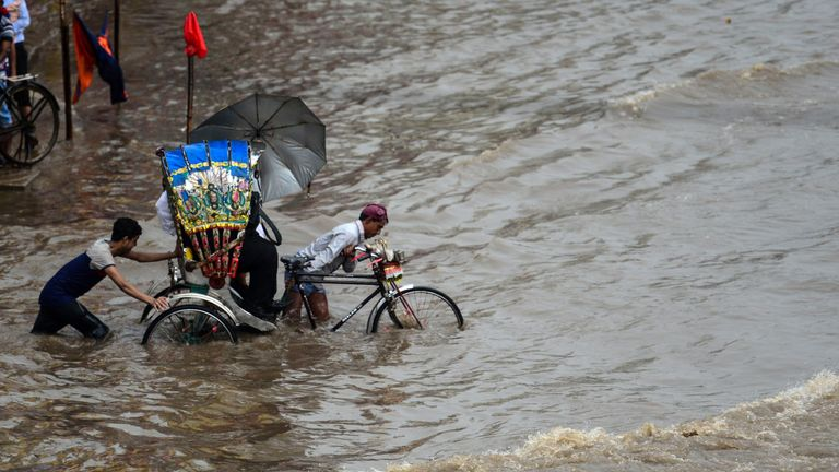 Transport infrastructure has been badly damaged by the flooding