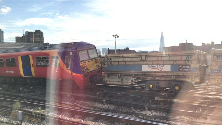 The collision has blocked one of the lines out of Waterloo. Pic: Jonnie Page