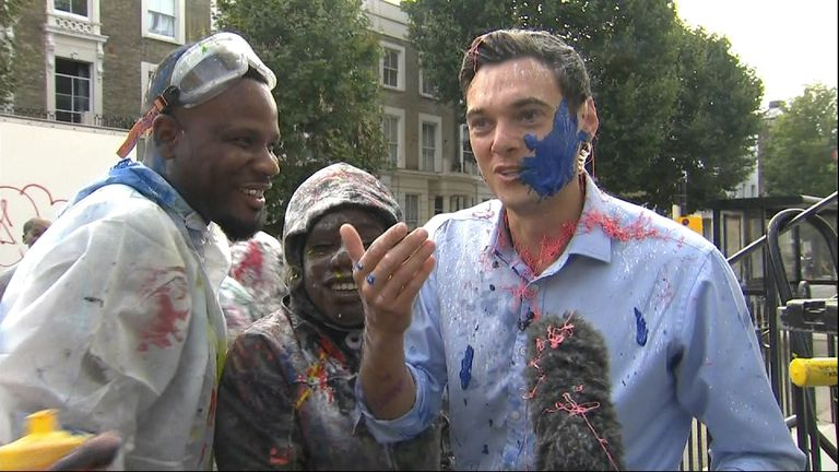 Sky's Joe Tidy gets messy at the Notting Hill Carnival