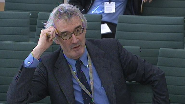Lord Macpherson, former permanent secretary to the Treasury, appearing before Treasury select committee in January 2015