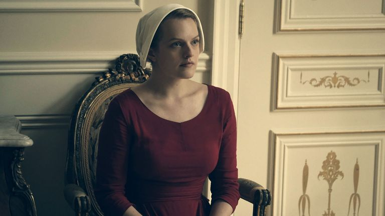 Elizabeth Moss as Ofred in The Handmaid's Tale. Pic: Hulu