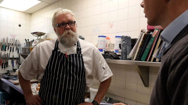 St Luke's Hospice chef Nick Wilkes