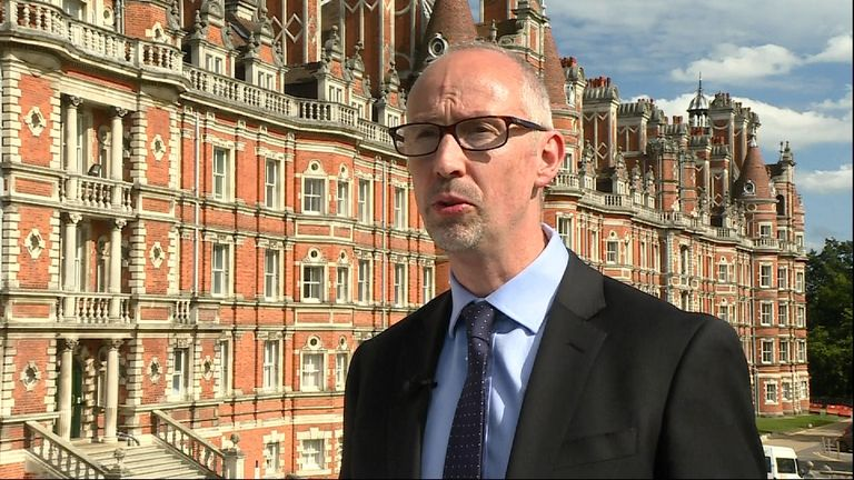 Higher education is becoming far more competitive, Royal Holloway University's David Ashton says