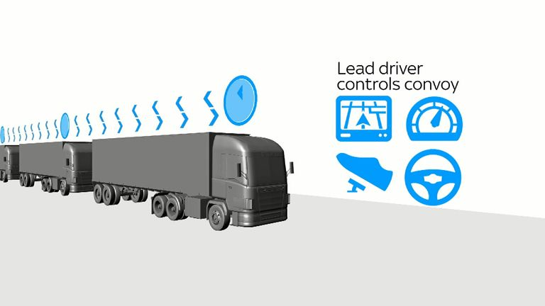 One driver controls all three lorries