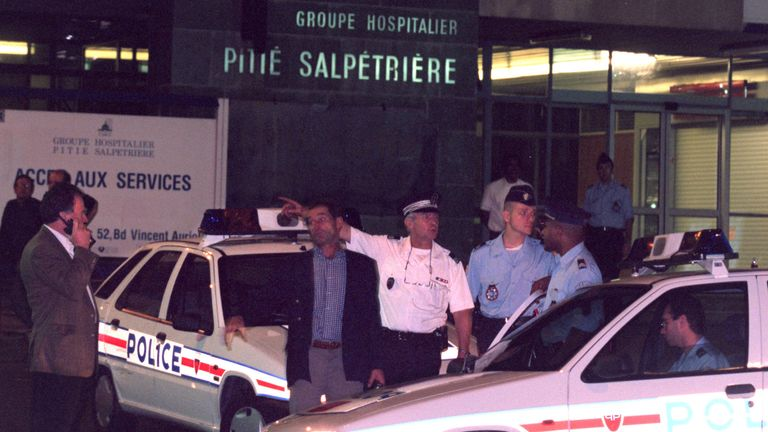 Diana was taken to Paris's Salpetriere Hospital