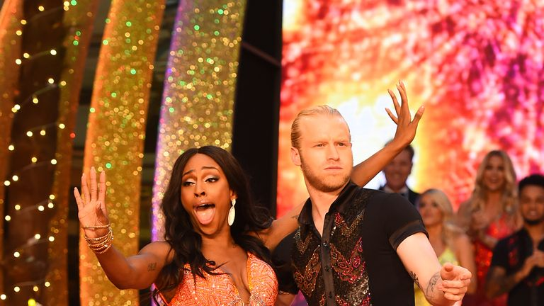 Alexandra Burke was revealed taking part in this year's Strictly Come Dancing yesterday, along with sprinter Jonnie Peacock