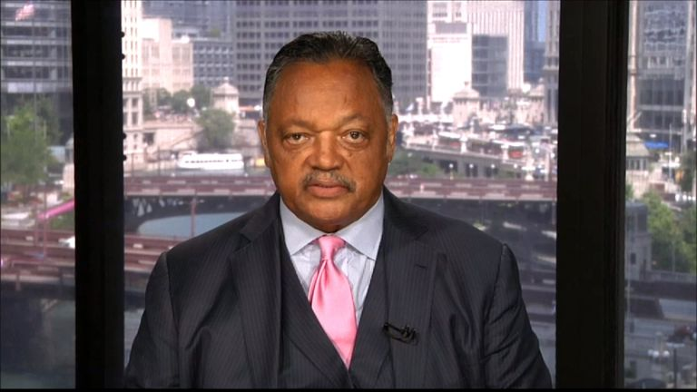 Civil rights leader Reverend Jesse Jackson called for confederate statues to be removed