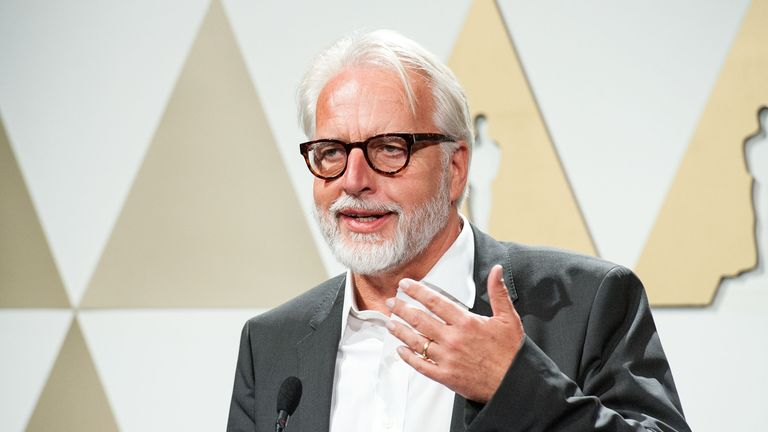 LOS ANGELES, CA - SEPTEMBER 29: Director Martin Roth speaks infront of the press at The Academy Of Motion Picture Arts And Sciences' Hollywood Costume Press Preview at Wilshire May Company Building on September 29, 2014 in Los Angeles, California. (Photo by Valerie Macon/Getty Images)