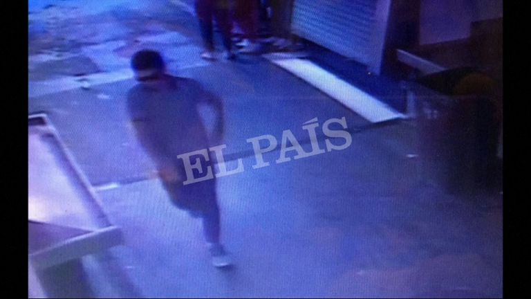 Younes Abouyaaqoub, the man suspected of driving the white Fiat van into crowds along Las Ramblas