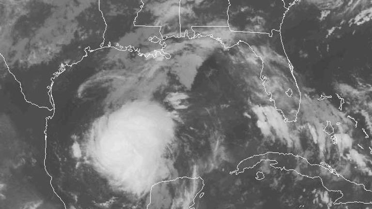 Tropical Storm Harvey is strengthening and moving north towards Texas. Pic: NOAA