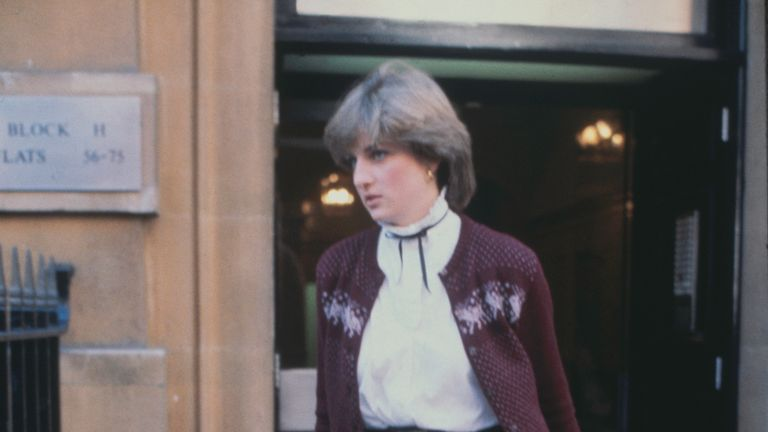 Nov 1980: Nineteen year-old Lady Diana Spencer leaves her flat at Coleherne Court in Earl's Court