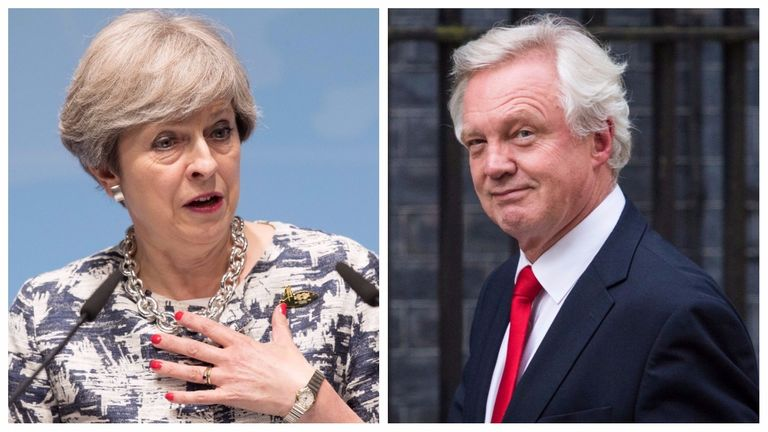 Split of Theresa May and David Davis