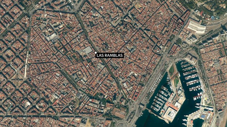 Las Ramblas stretches over half a mile from the Christopher Columbus monument to Catalonia Square