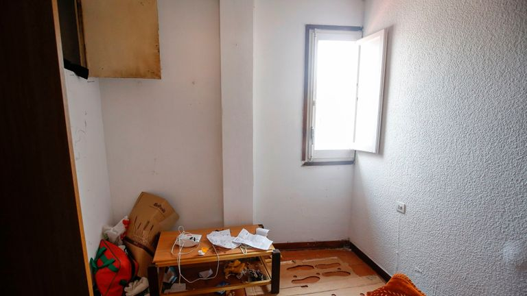 A picture taken on August 19, 2017 with the agreement of the flatmate of imam Abdelbaki Es Satty shows the room of the flatmate, after police officers carried out a search linked to the deadly terror Barcelona attack at the home in Ripoll, two days after a van ploughed into the crowd, killing 13 persons and injuring over 100. The El Pais daily, quoting police sources, said the imam could be one of the dead in the explosion of Alcanar. Drivers have ploughed on August 17, 2017 into pedestrians in