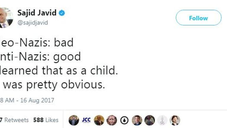 Sajid Javid on Twitter