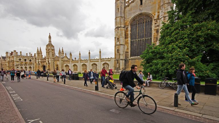 Students in of Kings College Cambridge