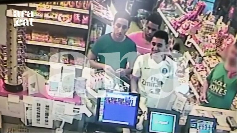 Three of the suspects were caught on CCTV at a petrol station