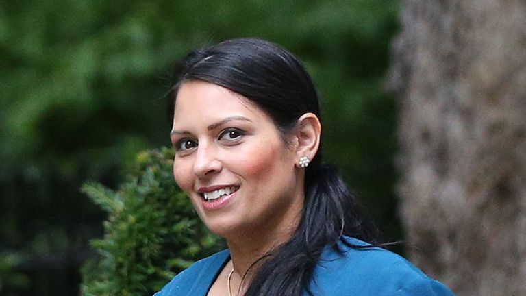 International Development Secretary Priti Patel arriving at 10 Downing Street in London for a Cabinet meeting.