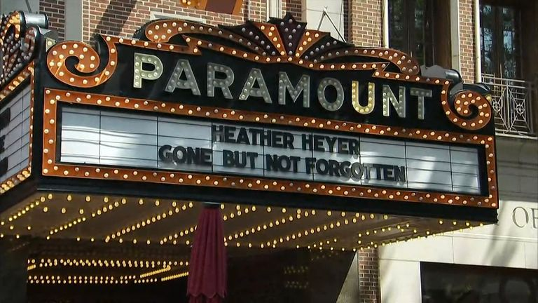 Hundreds filled the Paramount Theater in Charlottesville for the memorial