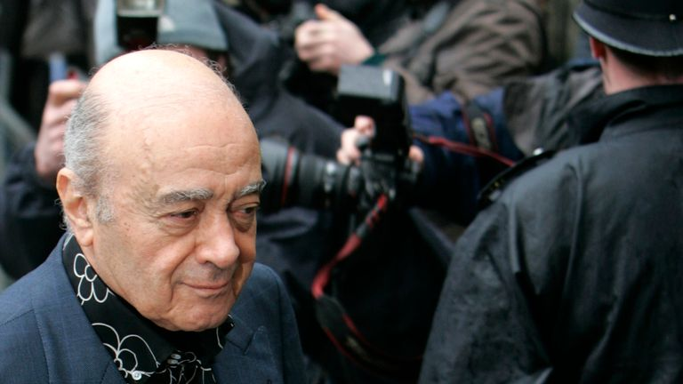 Mohamed al Fayed arrives at London's High Court for the 2008 inquest into the deaths