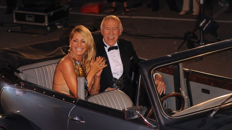 Sir Forsyth with Strictly Come Dancing co-presenter Tess Daly