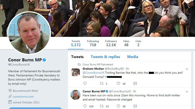 Tory MP Conor Burns tweets