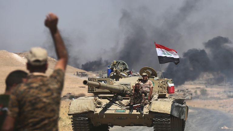 Iraqi forces had been battling IS fighters' last stand in the nearby town of al Ayadiya