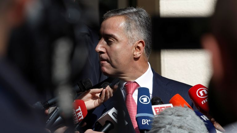 Montenegrin Prime Minister and leader of Democratic Party of Socialists, Milo Djukanovic