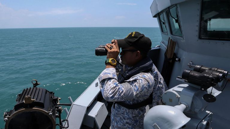 The Malaysian navy is helping the search for the missing US sailors
