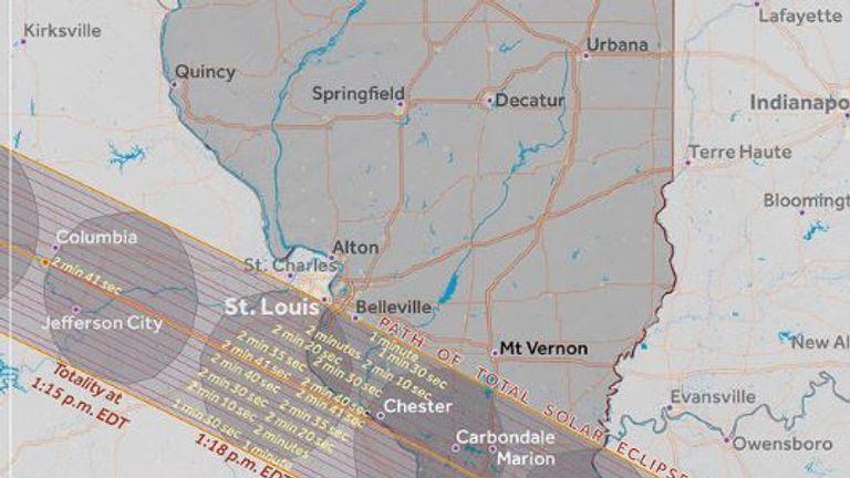 Illinois. Pic: Great American Eclipse