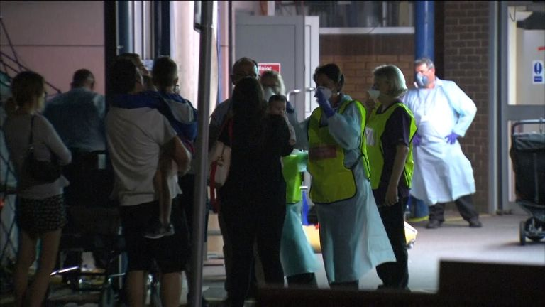 Eastbourne General District Hospital treated approximately 150 people