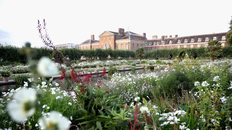 The White Garden at Kensington Palace is already open to the public