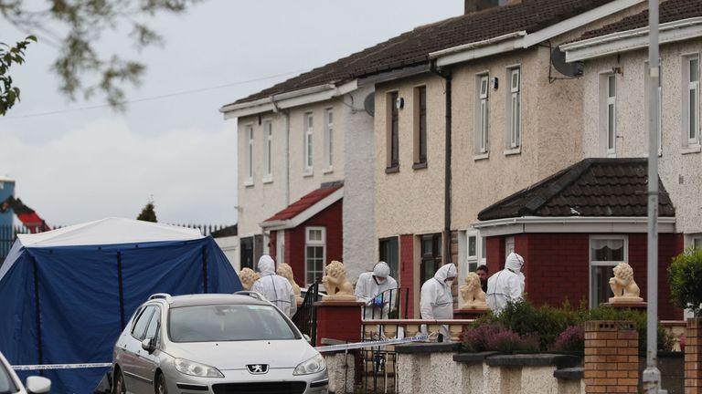 The house on Balbutcher Drive in Ballymun, Dublin where the woman and man were shot dead