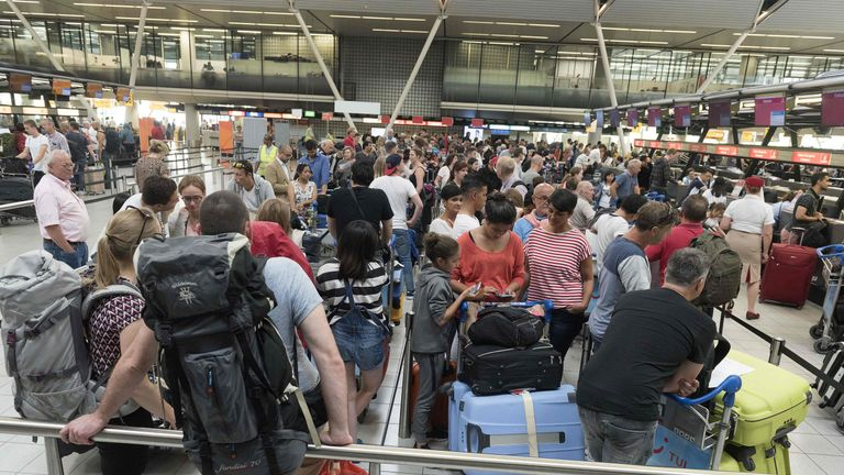 Passengers have been warned of immigration waits of up to four hours