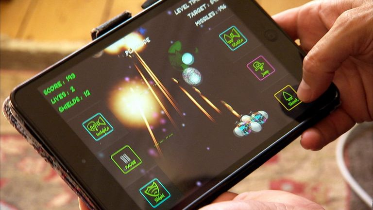 JumpInSauceRS is a tablet and smartphone-based space shooter for blind gamers