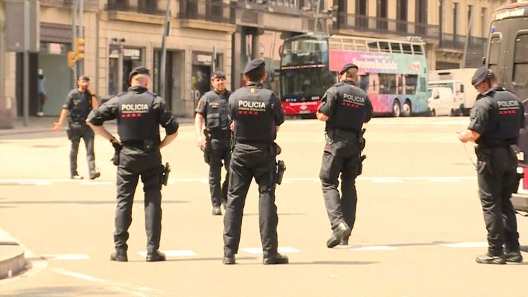 A security alert in Barcelona over a suspicious package on a bus