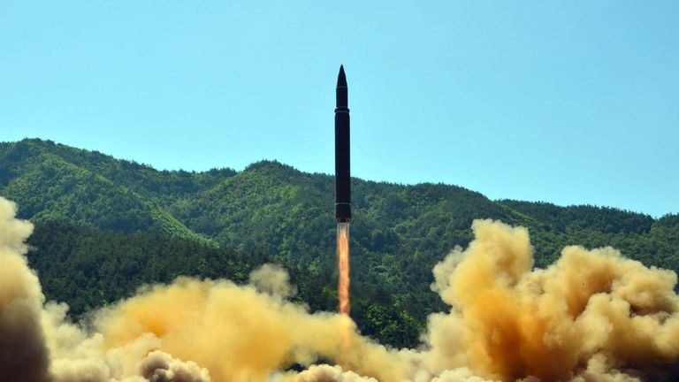 North Korean intercontinental ballistic missile test