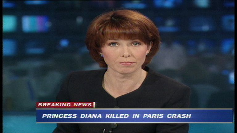 Kay Burley reports on death of Princess Diana