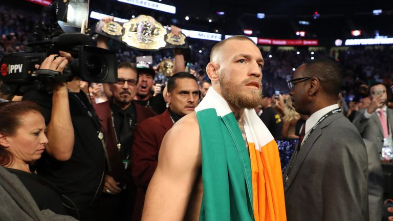 Ultimate Fighting Championship (UFC) star Conor McGregor heads into the ring