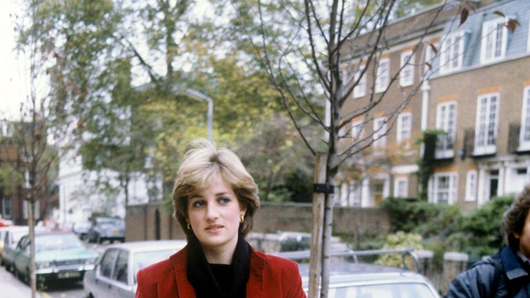 Nov 1980: 19 year old Lady Diana Spencer is pursued by the press near her London flat after being linked romantically with the Prince of Wales