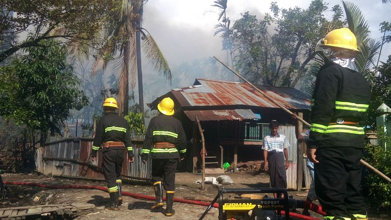 Human Rights Watch has  provided evidence of Rohingya homes being burned down by state forces