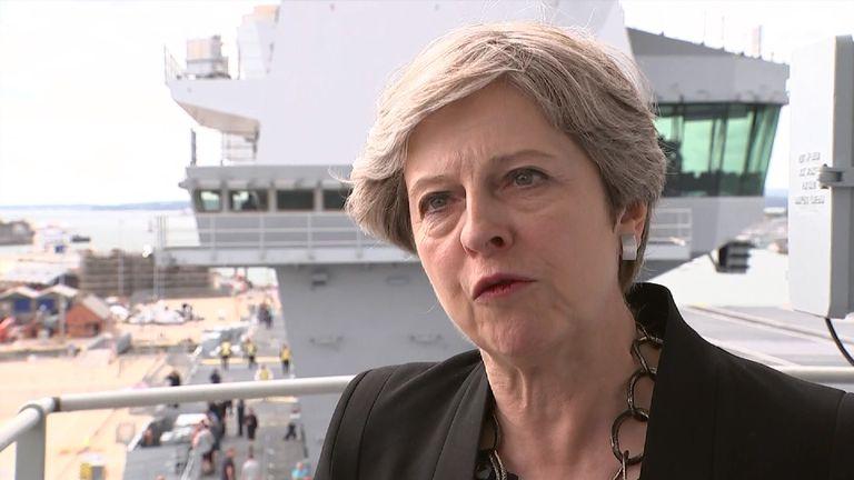 Theresa May has condemned Donald Trump's response