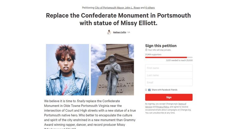 Petition on Change.org is likely to reach its target of 25,000 signatures