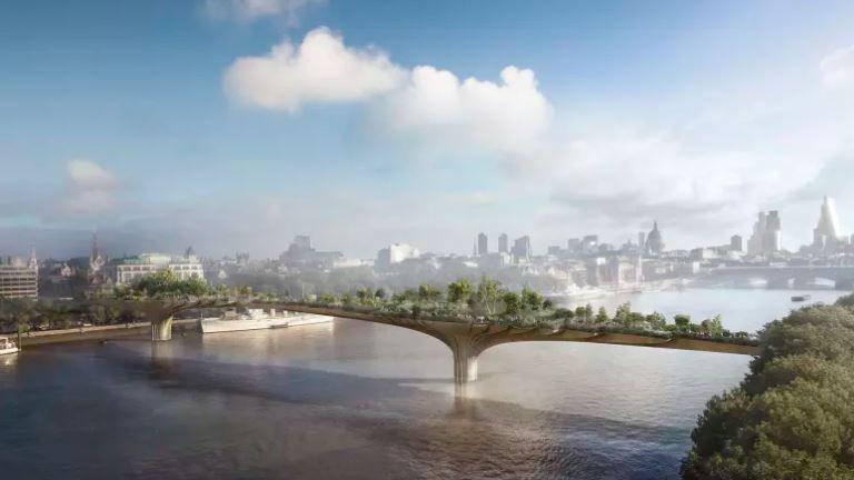 Garden Bridge project in London folds