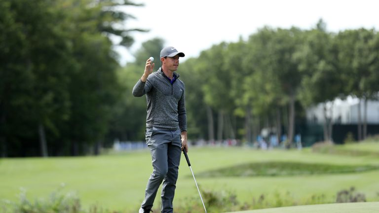 during the final round of the Deutsche Bank Championship at TPC Boston on September 5, 2016 in Norton, Massachusetts.