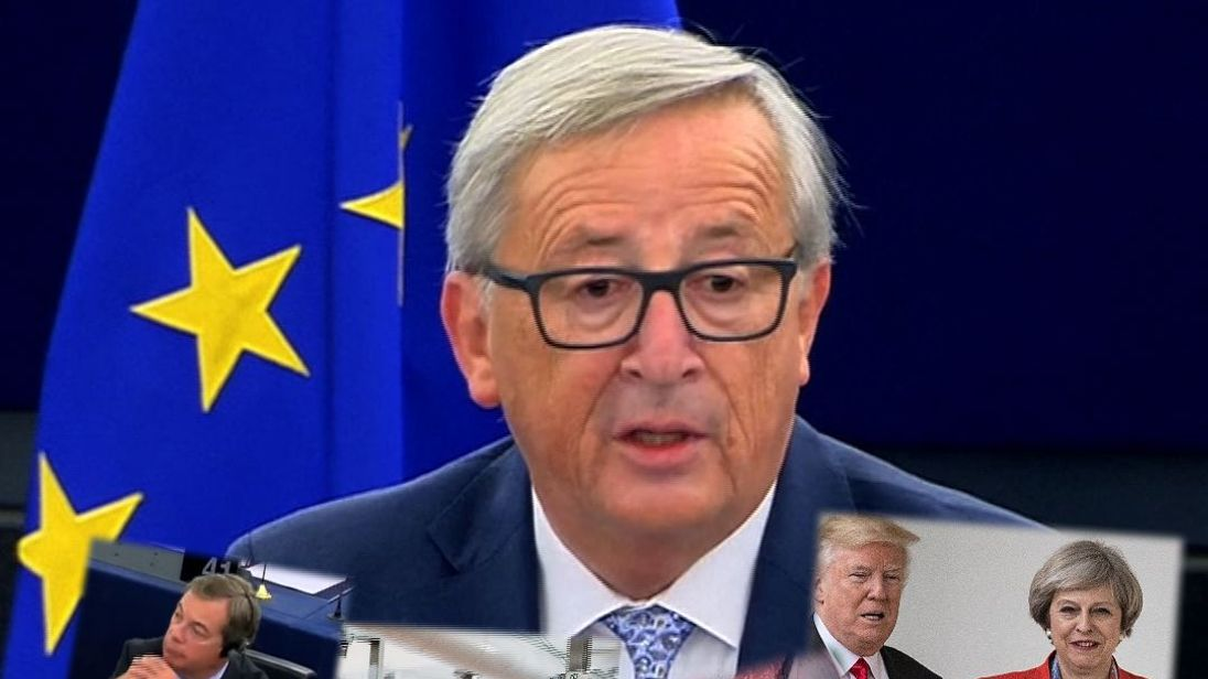 Jean-Claude Juncker gives the 2017 State of the Union address for the EU