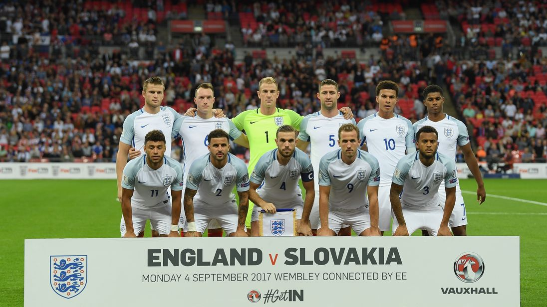 England took a step closer to World Cup qualification by beating Slovakia 2-1 on 4 September